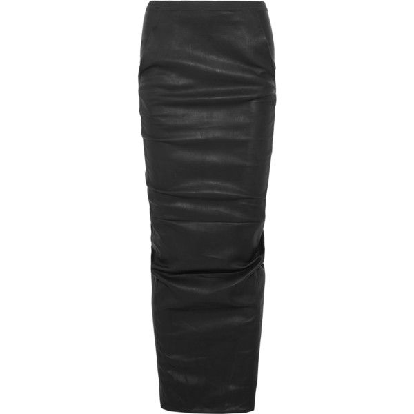 Outlet Best Seller Free Shipping Sale Online Stretch-cotton Maxi Skirt - Black Rick Owens Cheap Choice 4cMxY