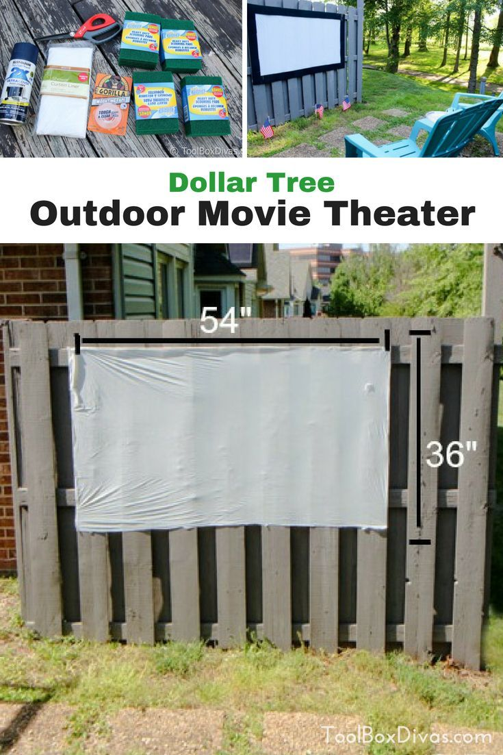Diy outdoor movie theater and projection screen outdoor