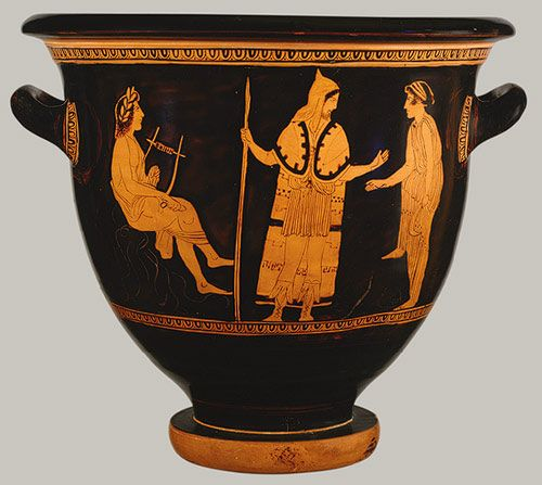 Attributed To The Painter Of London E 497 Terracotta Bell Krater Bowl For Mixing Wine And Water Greek Attic Classical The Met Ancient Greek Pottery Greek Pottery Greek Art