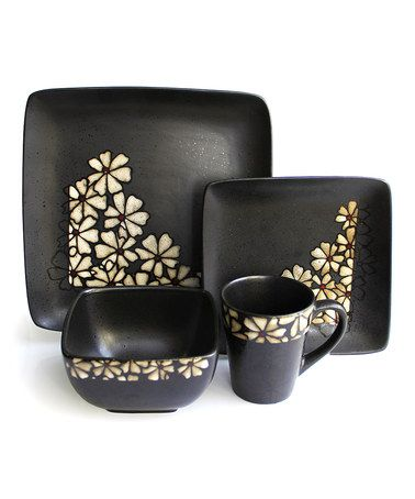 Take a look at this Jay Import Jasmine 16-Piece Dinnerware Set by Jay Import on #zulily today!