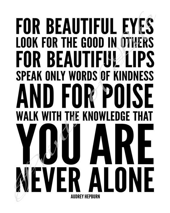 Audrey Hepburn Quote For Beautiful Eyes B W Instant Etsy Inspiring People Quotes Audrey Hepburn Quotes Quotes To Live By