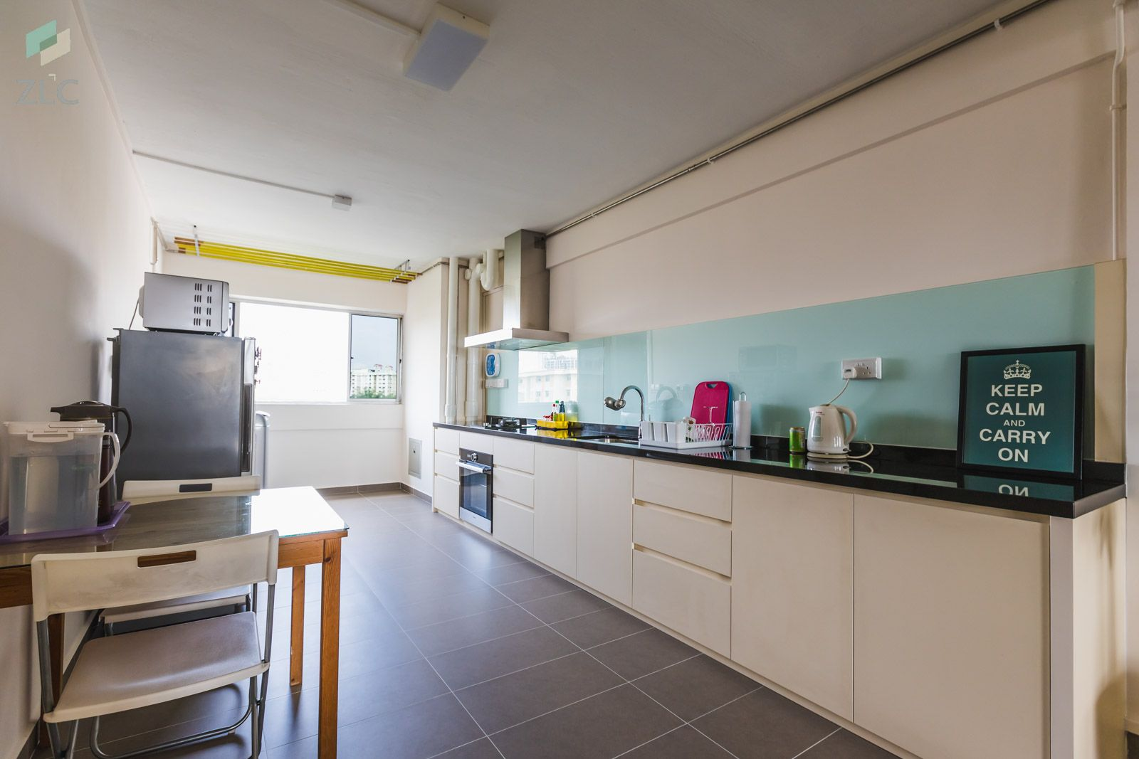 Ang Mo Kio Ave 4 4 Room Hdb Kitchen Style Farmhouse Kitchen Table Sets Kitchen Design Pictures