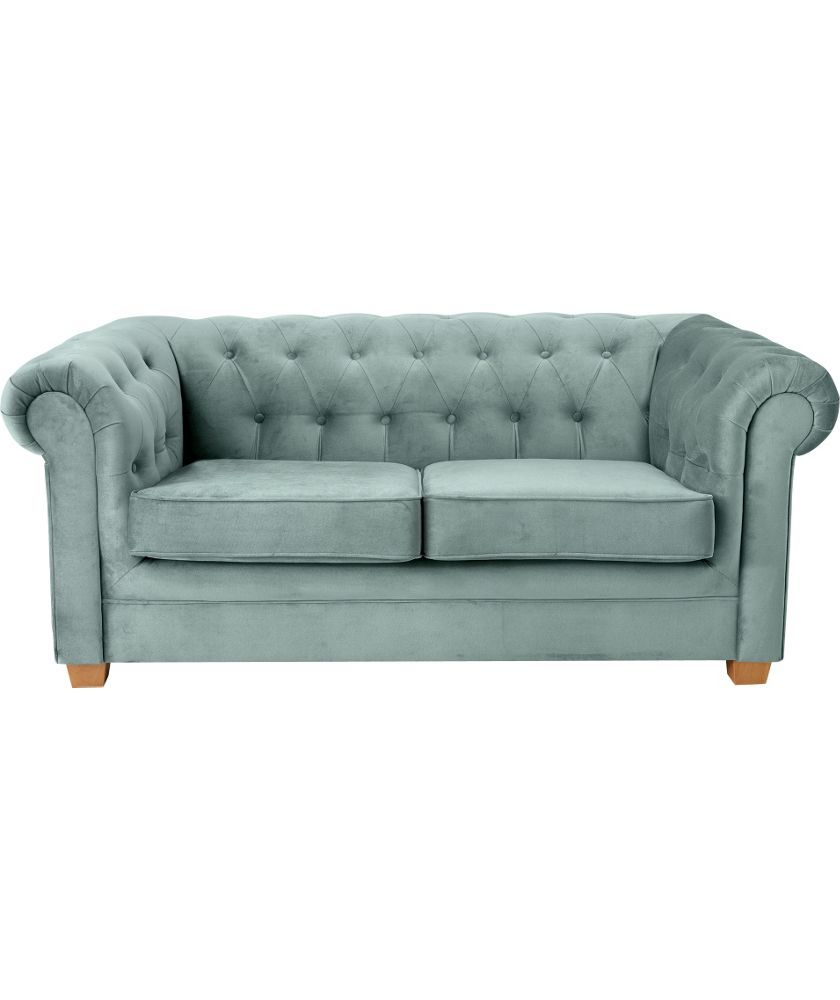 Chesterfield Sofa Online Uk 399 Chesterfield Regular Fabric Sofa Duck Egg At Argos Co Uk