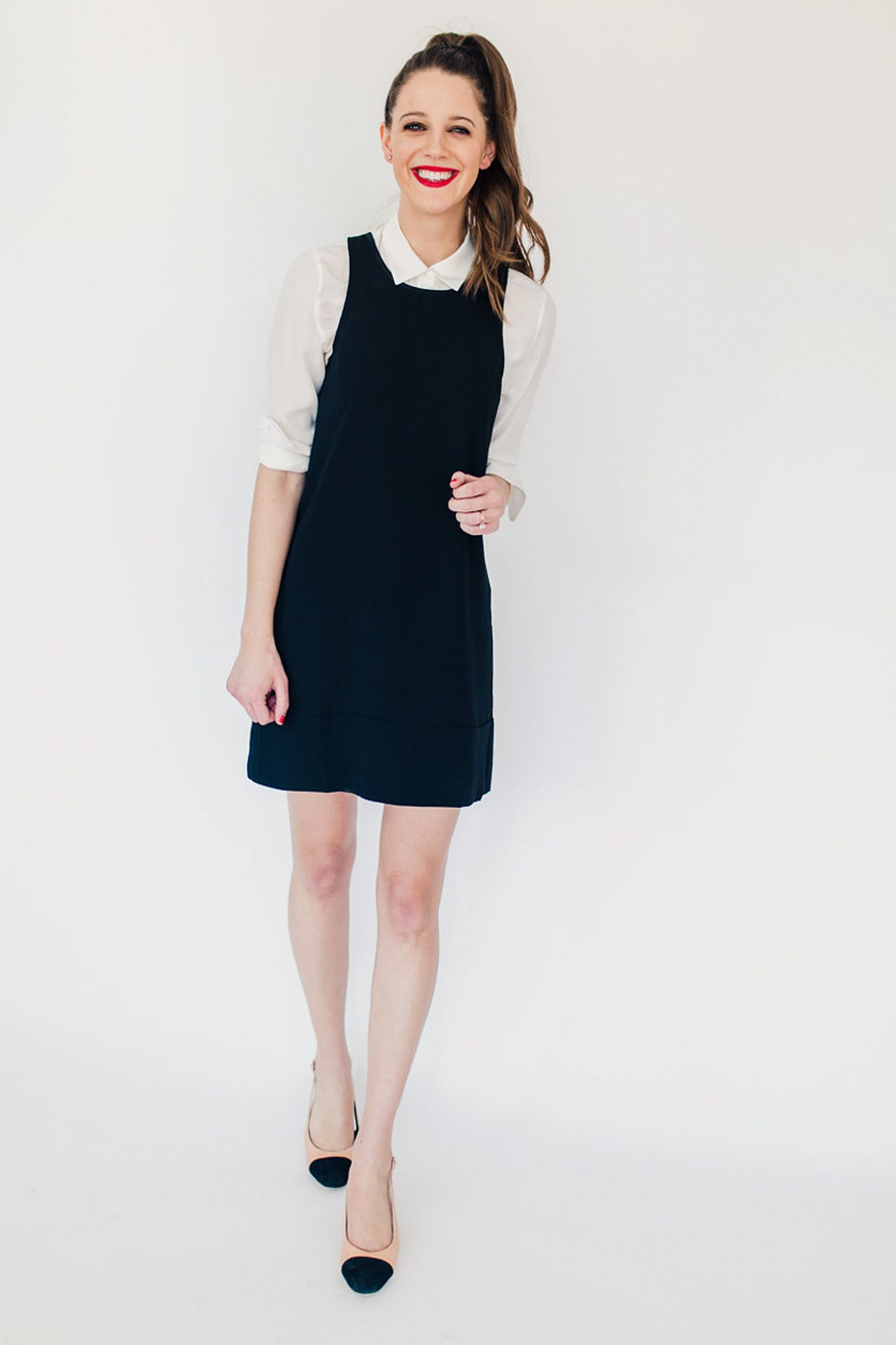 How To Wear A Shift Dress 4 Ways And The Best Ever Lbd Everyday Outfits Simple Outfits Shift Dress [ 2071 x 1380 Pixel ]