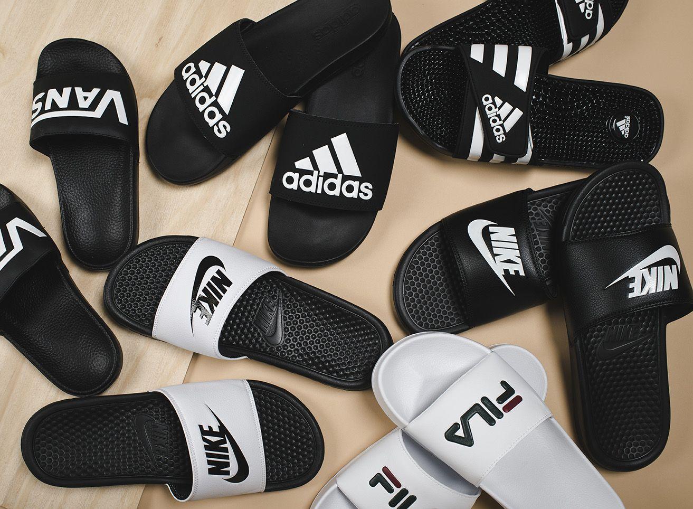 Men's slide sandals. Nike, FILA, VANS & Adidas. | Chancletas ...