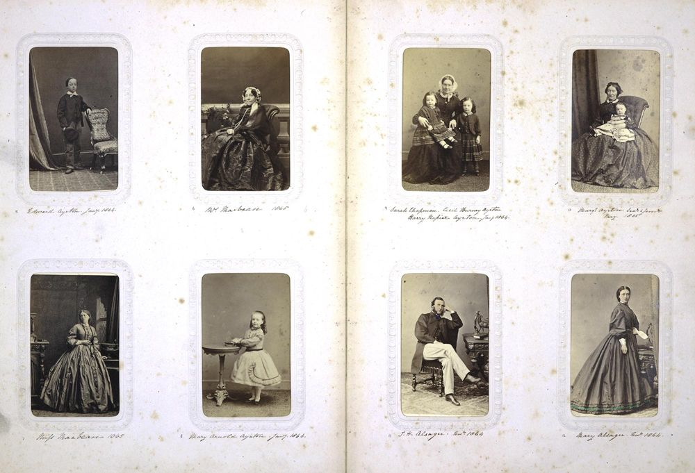Carte De Visite Portrait Album Of The Ayrton Family 1864 65