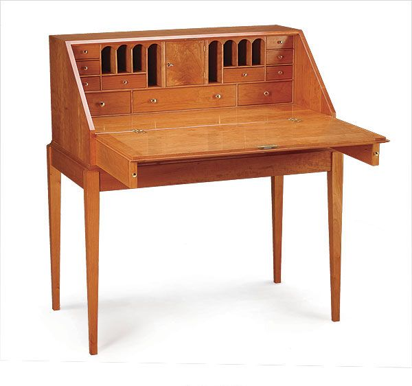 This Tiny Shaker Style Piece Of Writing Desk Is Made Whole Angstrom Unit Little Planning
