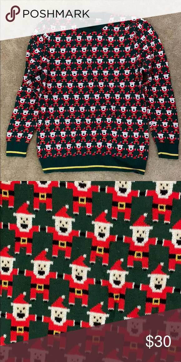 7d9e6f67bc Gamer ugly Christmas sweater Ugly Christmas swear with pixel art Santas  Sweaters