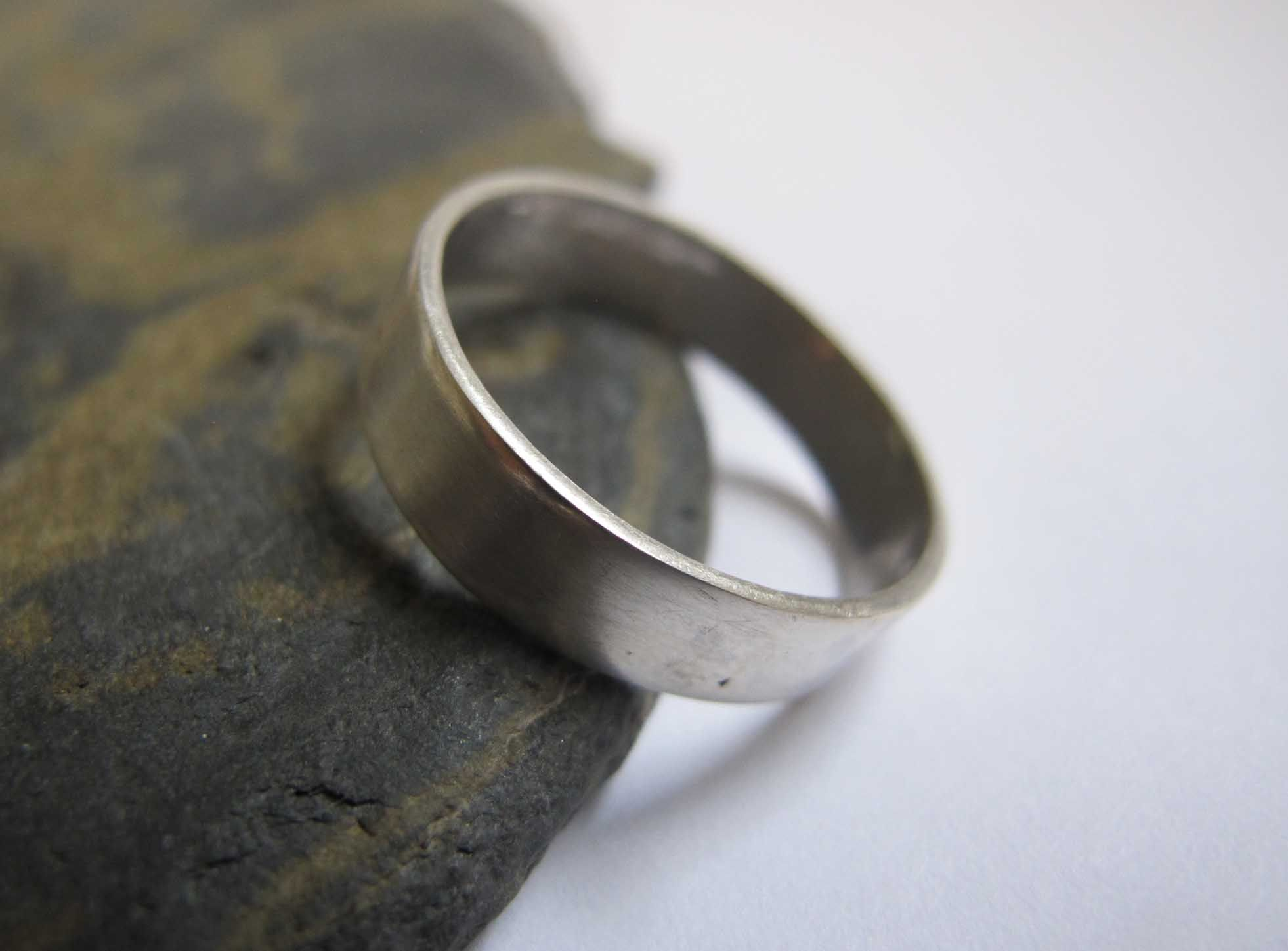 Men S Thick Silver Band Ring Wedding