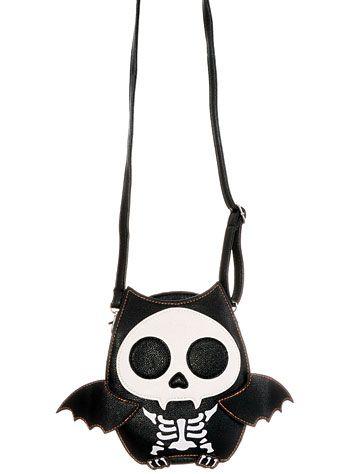 Batty Skeleton Creepy Cute Crossbody Purse -  39.00 at PLASTICLAND ... eb8d84c16032a
