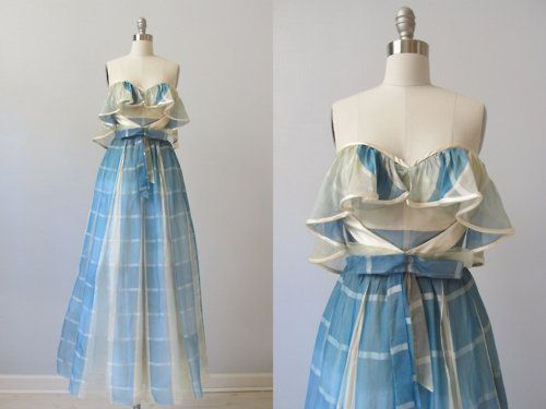 Vintage 1980's prom dress (From The Vintage Mistress at Etsy)