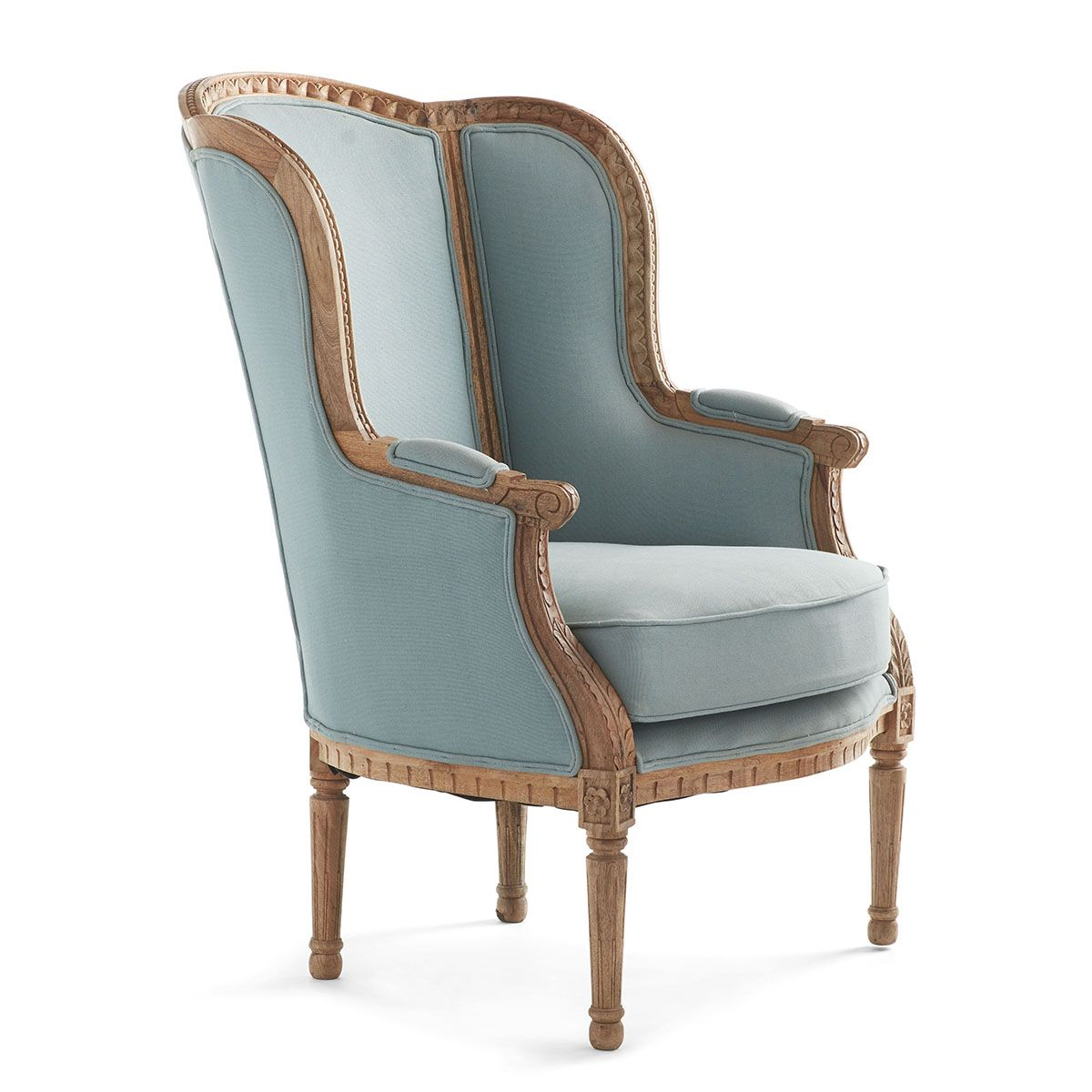 Best Louis Xv Wing Chair Aqua Slipcovers For Chairs Comfy 400 x 300
