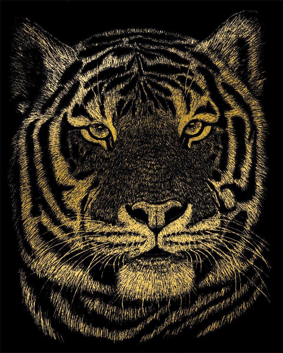 Wolves Royal and Langnickel Gold Engraving Art