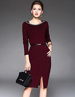 f3d8b22dd Mujer Corte Bodycon Vestido Noche Simple