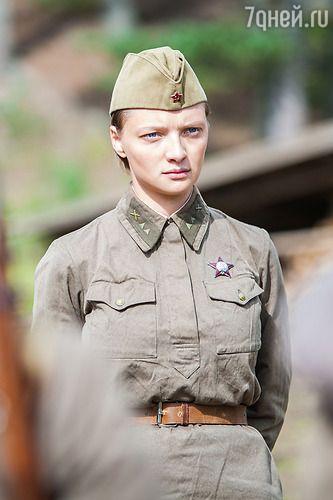 Екатерина Вилкова на съемках фильма «А зори здесь тихие»