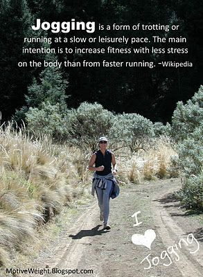 Jogging For Fitness - I like to Walk & Jog on the Track.