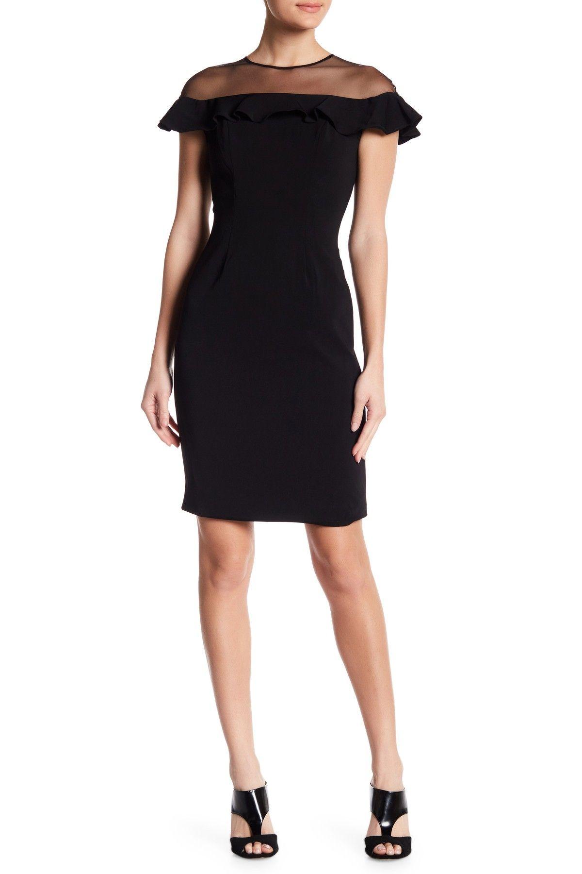 c24974e2 Sheer Shoulder Midi Dress. Sheer Shoulder Midi Dress by Carmen Marc Valvo  Infusion ...
