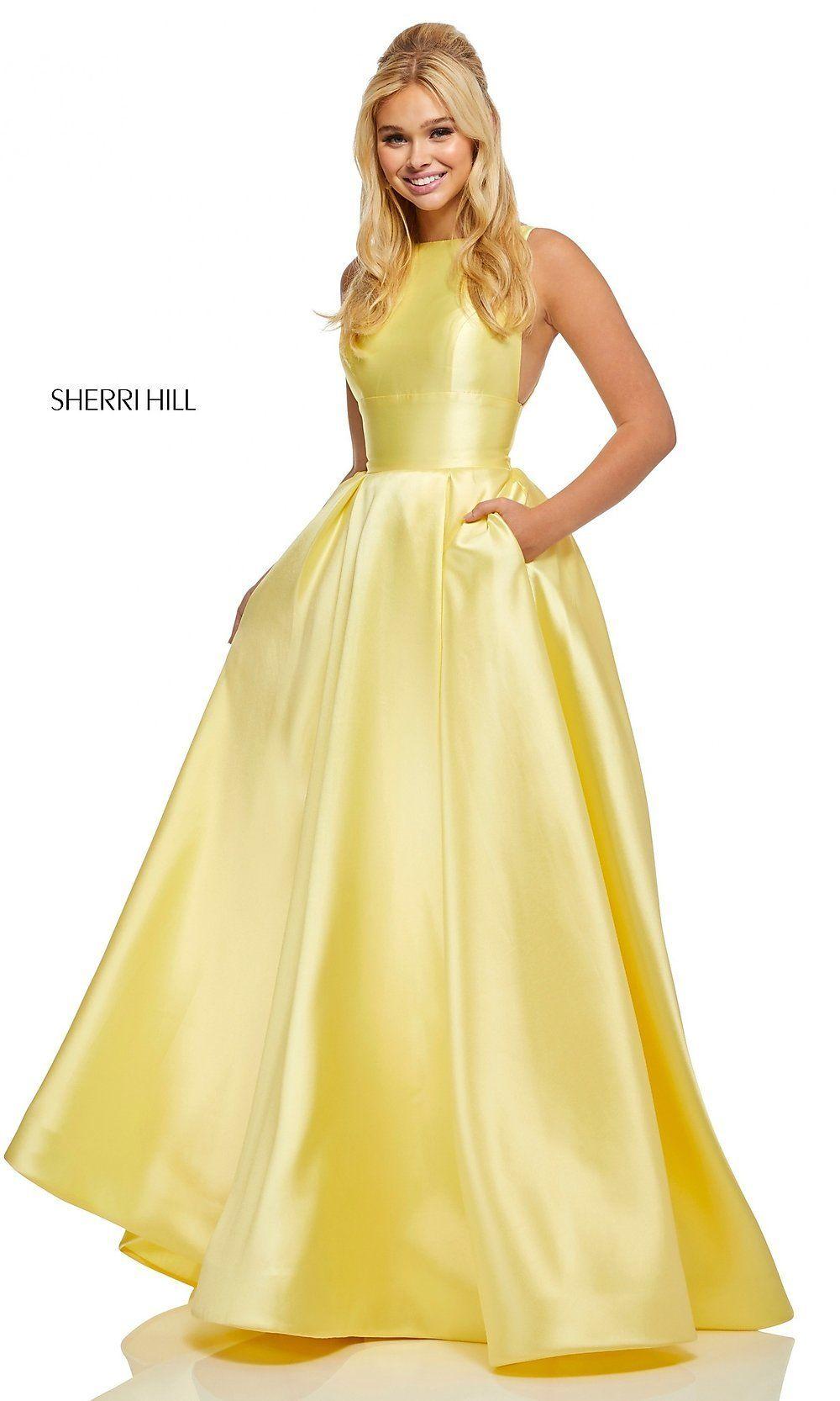 40d78179cd Sherri Hill High-Neck A-Line Formal Gown