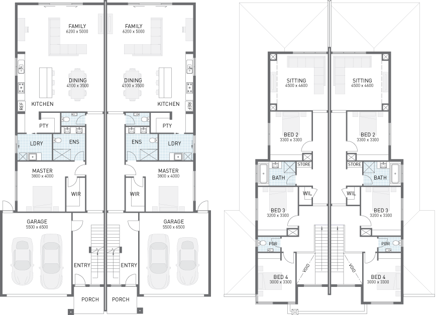 Dual Occupancy House Plans Google Search Town House Floor Plan Narrow House Plans House Plans Australia