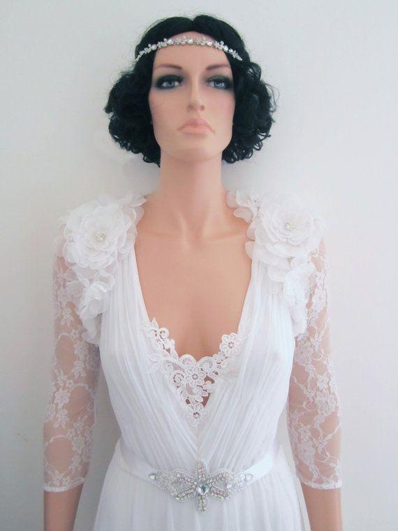 Bridal Bolero Shrug In Ivory Vintage Style Wedding By Foldedroses 190 00 Bridal Shrug Wedding Dresses Lace Bridal Wear