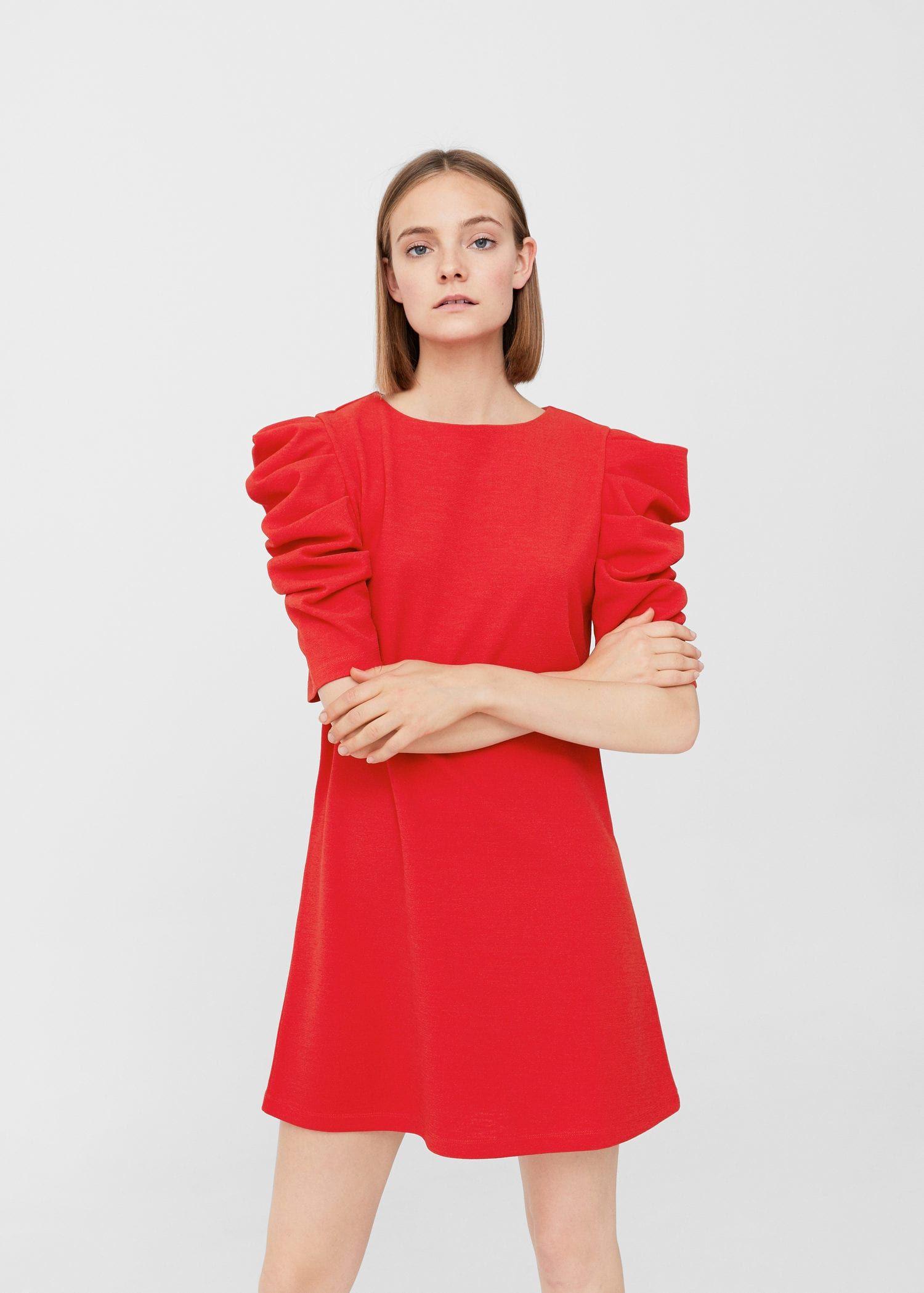32345ce82eb Vestido manga abullonada - Mujer | MyWork. | Dresses, Short dresses ...