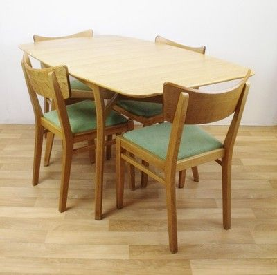 E Gomme G Plan Brandon Range Oak Table And 4 Dining Chairs Retro