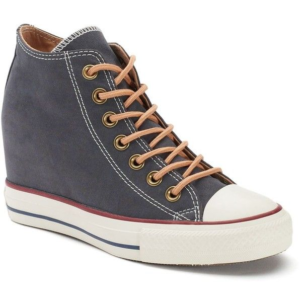 Women's Converse Chuck Taylor All Star Lux Mid Hidden Wedge Sneakers,... (
