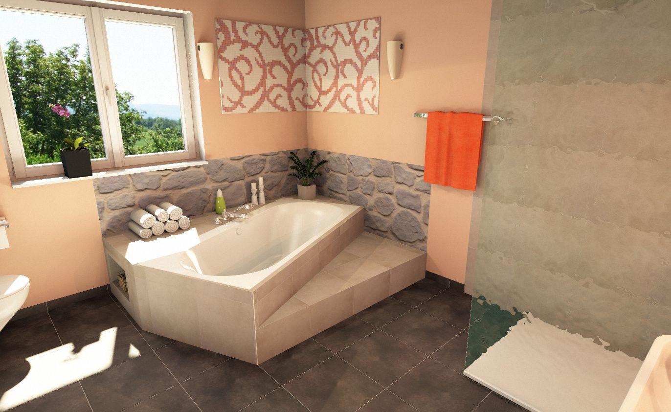 Pin von Sara Mocci auf Badewanne mit Podest  Badezimmer, Baden