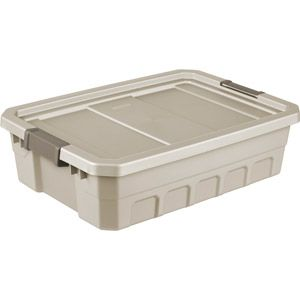 Sterilite 10 Gallon 40 Quart Stacker Storage Bins Nickel Driftwood Set Of 6 Sterilite Storage Bins Stackers