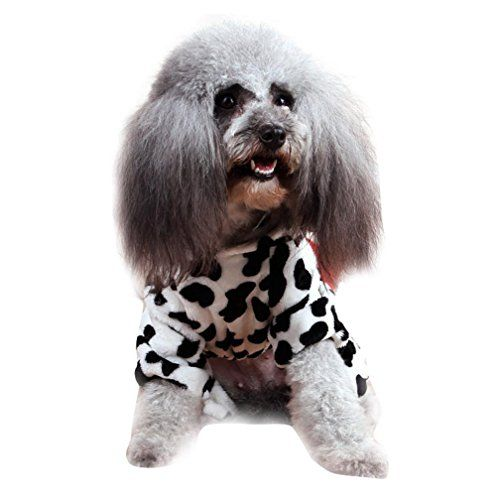 Dog Cat Clothes Funny Puppy Dairy Cow