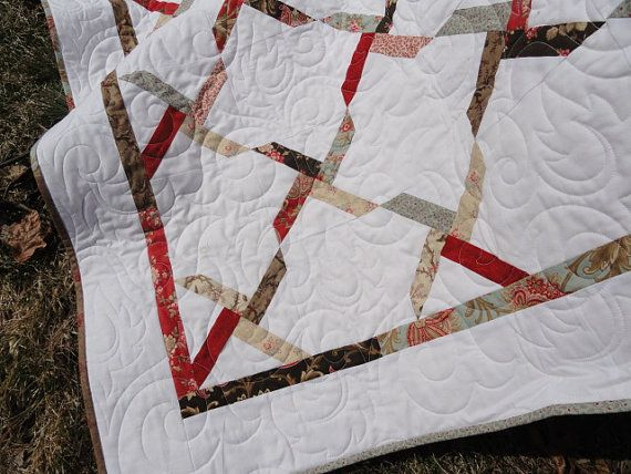 Modern Twin sized quilt I call Kissed  62x 74 by Lovedquilts, $250.00