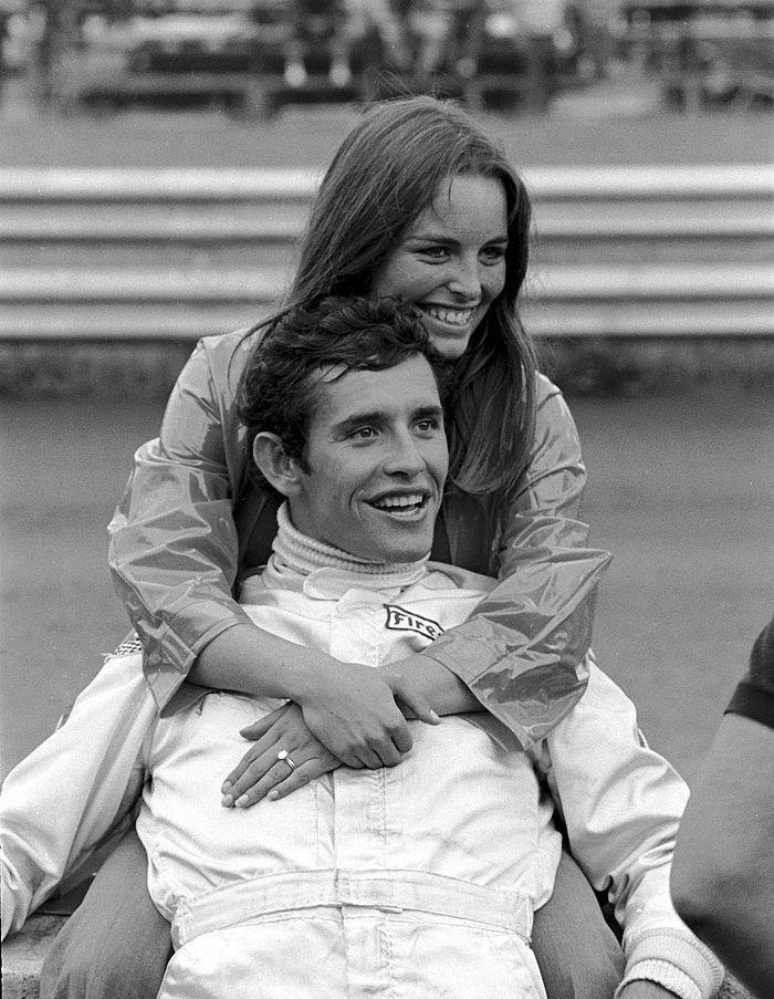 Jackie Ickx And His Wife Catherine Austria 1970 Rennsport Rennwagen Autorennen