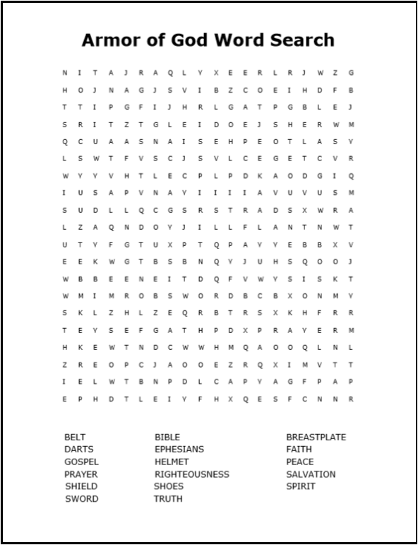 Crazy image with bible word search printable