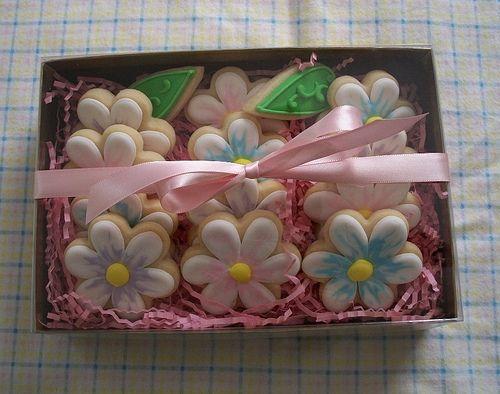 Boxed Flower Cookies