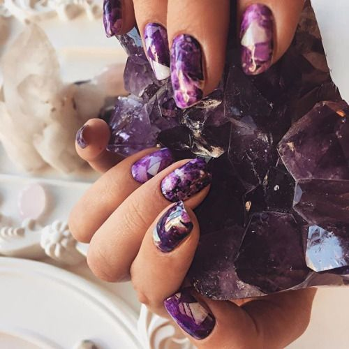 12 Unique Trending Nail Art Designs For 2017: The Hottest 2017 Trend: 15 Geode Nails Ideas