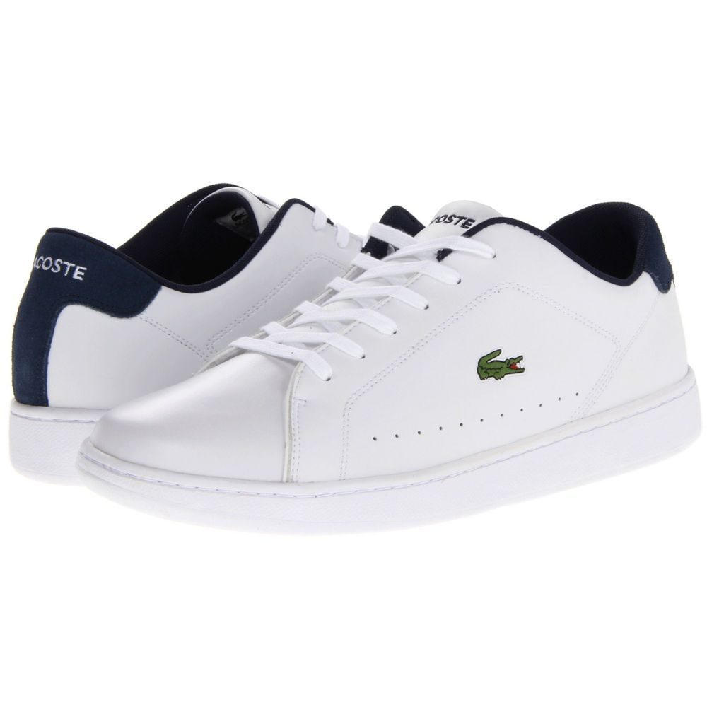 Lacoste Mens Carnaby Ca Shoes Sneakers Tennis Mens Fashion White Medium Thời Trang Thể Thao Giay Nam