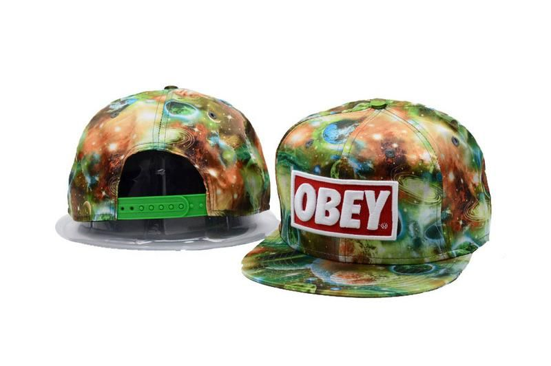 7a3c46a183d Men s Obey Original Obey Logo Patch Full Galaxy Printed Snapback Hat - MC    Red