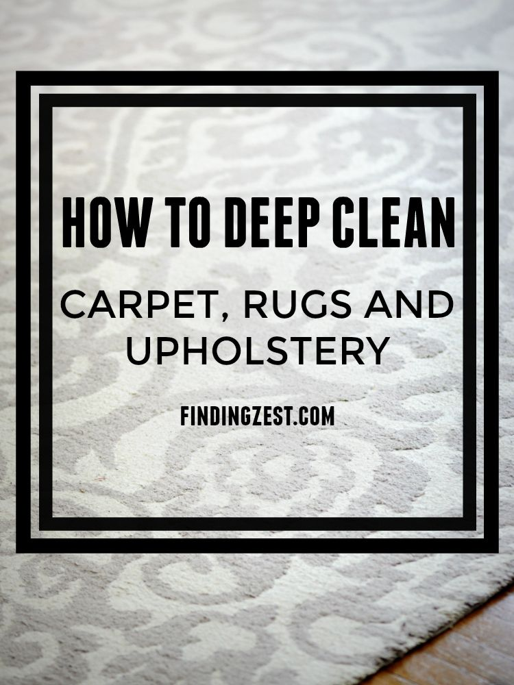 Ever wonder how to deep clean carpet, rugs and upholstery? It is probably easier and cheaper than you think! #StayClean2016  #RugDoctorDifference #ad