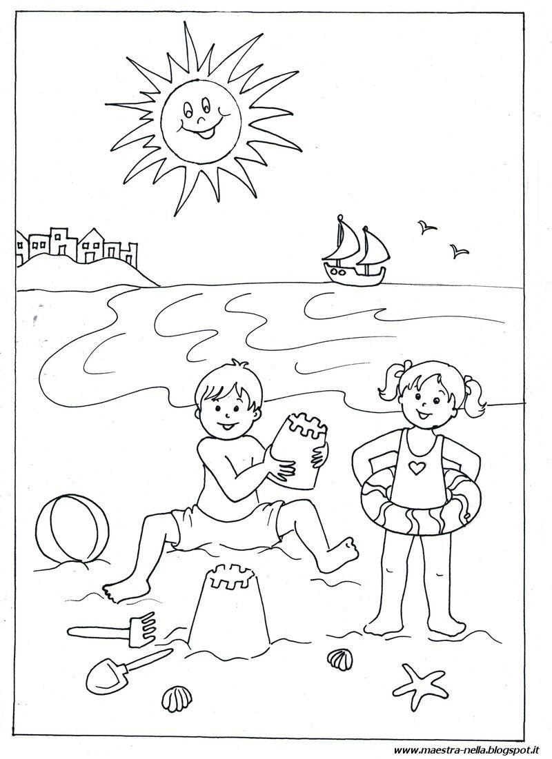 Disegni idee e lavoretti per la scuola dell 39 infanzia e for Sole disegno da colorare