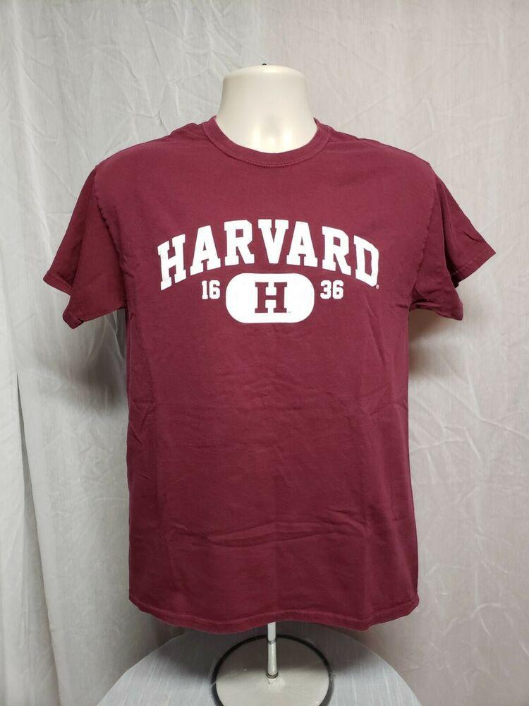 68ea87b4 Harvard University 1636 Adult Medium Burgundy TShirt #Gildan ...