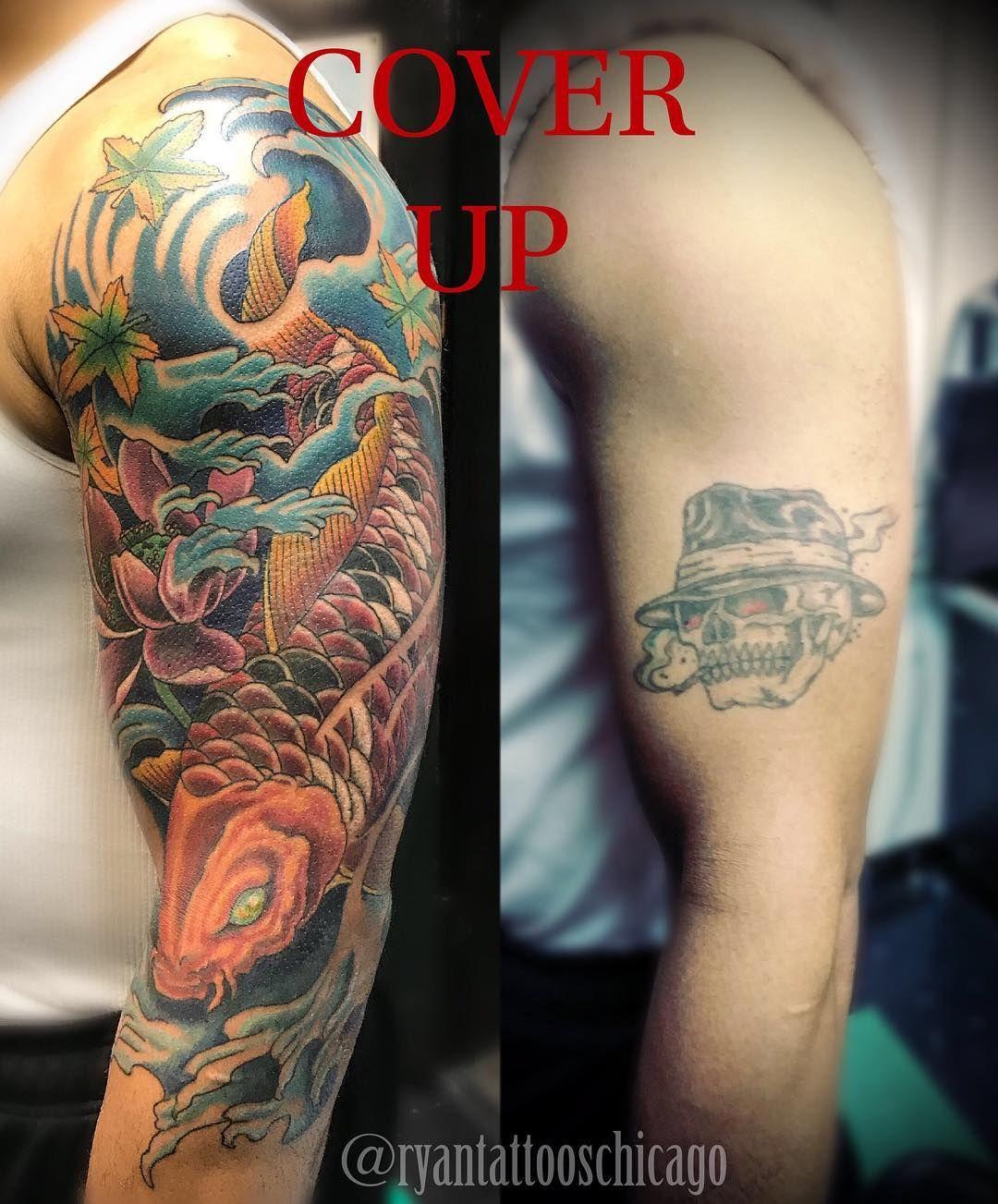Coy Fish Cover Up Coyfish Coyfishtattoo Colortattoo Colortattoos Coveruptattoo Coveruptattoos Halfsleevetatt In 2020 Cover Up Tattoos Cover Up Tattoo Ink Tattoo