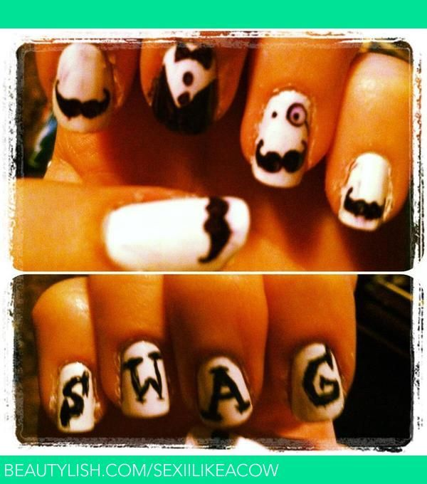Swag Nails Jenn Ms Sexiilikeacow Photo Beautylish Nail Art