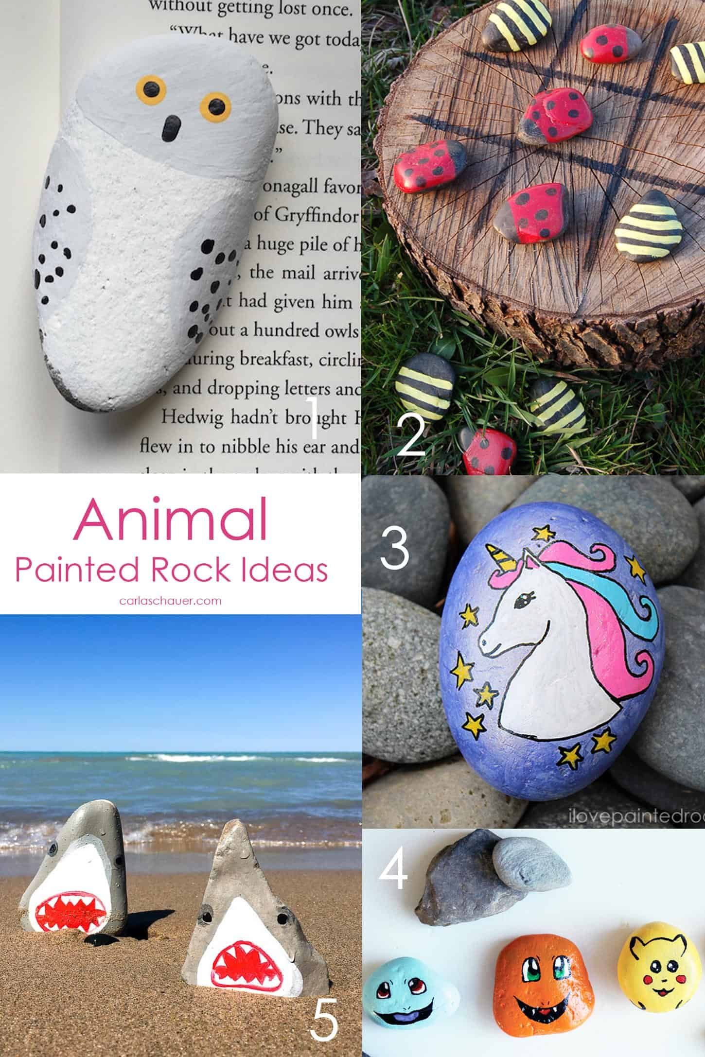 So Cute Animal Painted Rock Ideas - 20+ Easy Painting