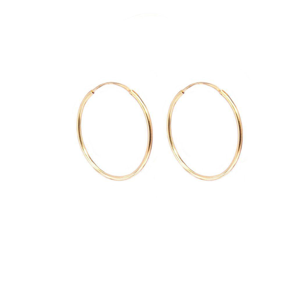 Pandora Gold Hoop Earrings