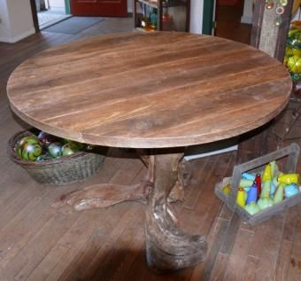 Driftwood Reclaimed Wood Rustic Round dining table