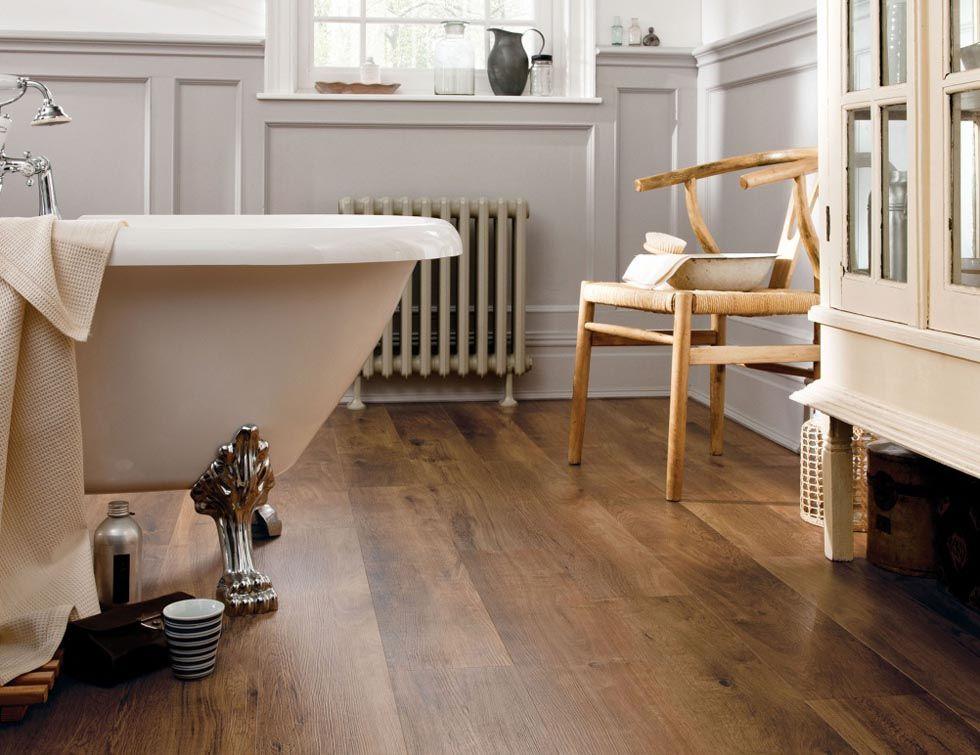 "This floor isn't wood, it's ""luxury vinyl tile"" very"