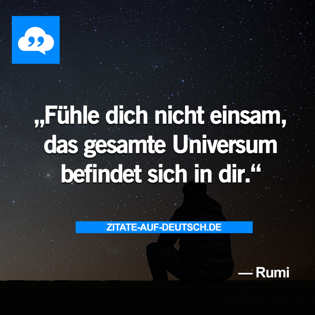 Einsamkeit, #Spruch, #Sprüche, #Universum, #Zitat, #Zitate, #Rumi