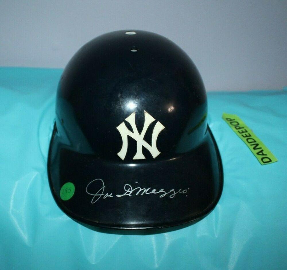 Authentic Diamond Full Size New York Yankees Joe Dimaggio Signed Batting Helmet Newyorkyankees Baseball Helmet Joedimaggio Autographed Sign Batting Helmet