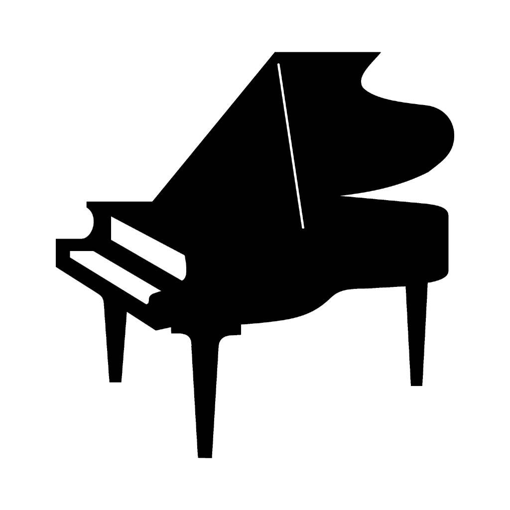 piano silhouette wotomoro [ 1024 x 1024 Pixel ]