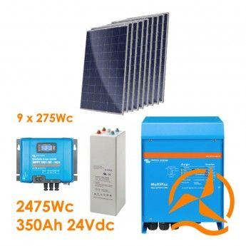 Kit Hybride Complet Solaire Et Eolien 4 000 A 8 500 Wh Panneau Solaire Solaire Photovoltaique Autoconsommation